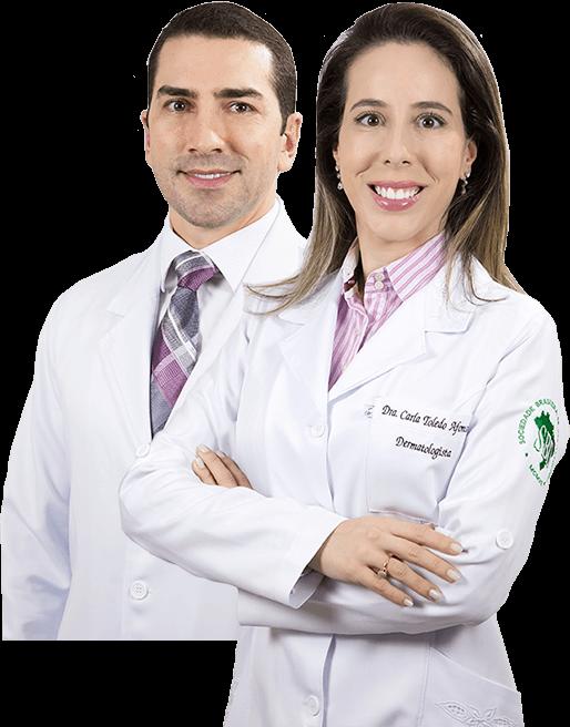 Dr. Pedro Henrique Rosa Vilaça e a Dra. Carla Toledo Afonso juntos.